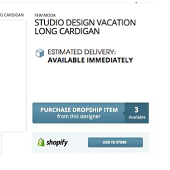 STEP 2:  Retailer Adds Items to Shopify or Inventory List