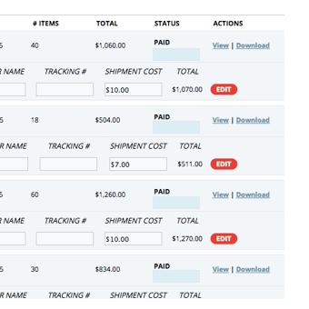 STEP 5: Brand Adjusts Shipping Costs / Status